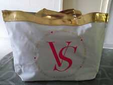 VICTORIA'S SECRET WHITE GOLD SWIM TOTE BAG~Limited Edition