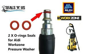 Aldi Workzone Pressure Washer Quick Release Hose Male End 2 O-Rings Rubber Seals