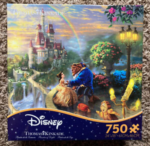 Ceaco Disney Kinkade Beauty And The Beast Falling In Love 750 Pcs Puzzle New