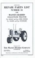 Massey Harris Challenger Tractor Parts List Manual MH