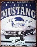 PLAQUE METAL vintage  FORD MUSTANG classic - 40 X 30 CM original USA