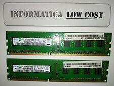 lotto n. 2 barrette di memoria ram ddr3 da 2gb ciascuna samsung - RAM Totale 4gb