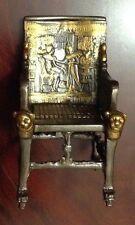 King Tut Egyptian Throne Chair.Dark Oxidized Bronze & Gold, Made in egypt