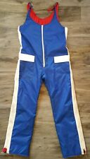 Vintage 70s 80s Red White Blue Snow Snowmobile Bibs Pants Mens Size Large EUC