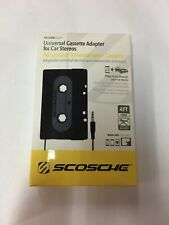 Scosche Black Car Stereo Cassette Adapter Kit