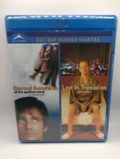 Eternal Sunshine of the Spotless Mind/Lost in Translation blu-ray Brand New
