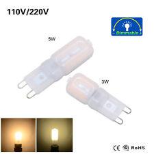 G9 2835 Frosted Cool /Warm White Dimable LED Lamp Bulb Light AC110V 220V