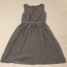 Grey Gray Sheer Mock Sweetheart Tivolio Dress Davids Bridal with Pockets Size 6