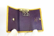 Auth Louis Vuitton tassil yellow epi leather  4 Key Case key holder Spain CA0062