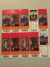 10 Vintage Pittsburgh Pirates Ticket Stubs 2002/2009 Season