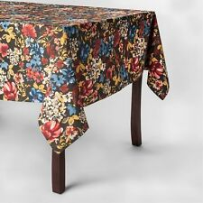 """Threshold ~ FLORAL ~ Oblong 60"""" x 84"""" Tablecloth Kitchen Table Cloth Fabric NEW"""