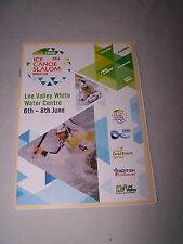 ICF 2014 Canoe Slalom World cup programme, Lee Valley White Water Centre