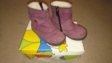 ricosta pepino purple furry fleece lined boots start rite right waterproof UK 5