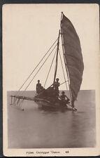 Fiji Postcard - Fijian Outrigger Canoe  C1306