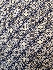 "Vintage Gap 100% Silk Geometric USA Made Classic Gray Blue 3.5"" Wide Tie"