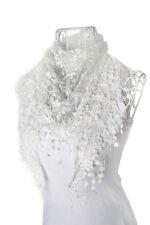 New Women's Lace Tassel Sheer Burntout Floral Long Wrap Shawl Beach Silk Scarf
