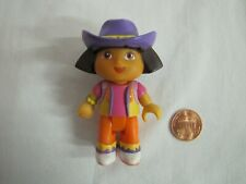 "DORA THE EXPLORER Dollhouse 3"" GIRL DOLL COWGIRL Cake Topper Figure Purple Hat"