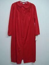 USA Made Nancy King Lingerie Soft Luster Nylon Robe Size 3X Red #649Q