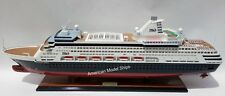 "PACIFIC EDEN Ocean Liner Cruise Ship Model 34"" - Handcrafted Wooden Model NEW"