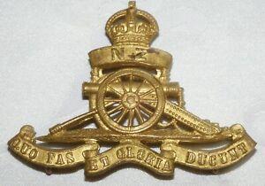 WW1 CAP BADGE NEW ZEALAND ROYAL ARTILLERY REGIMENT  - MILITARY - WORLD WAR I
