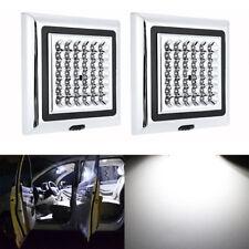 2x 12V 42 LED Light White Car Van Ceiling Roof Vehicle Interior Light Bulb Lamps