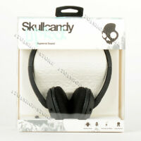 Skullcandy Uprock On-Ear Stereo Headphones Headset w/Mic Carbon Matte Black/Mint