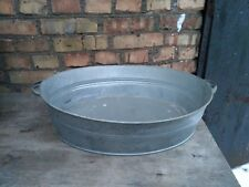 Vintage wash basin metal oval sauna USSR New old stock