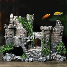Aquarium Decoration Fish Tank Decor Resin Castle Artificial Rock Ornament Cave