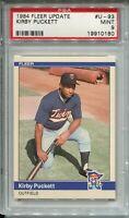 1984 Fleer Update Baseball #U93 Kirby Puckett Rookie Card XRC PSA MINT 9 Twins