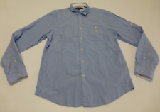 Ben Sherman Mens XL Blue Striped Slim Fit Button Front Shirt Excellent Condition