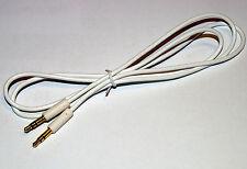 Slim 3.5mm Mini Stereo Jack Plug to Plug Slim White flexible cable 1m