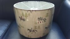 Horse riding fabric by Sophie Allport - 30cm drum lampshade - ceiling fitting