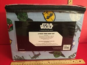 Yoda R2D2 C3PO Disney Star Wars Heavyweight Flannel Twin Sheet Set by Kohl's  A2