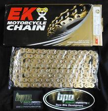 MOTORCYCLE CHAIN XRING GOLD EK 530 ZVX2 122 LINK