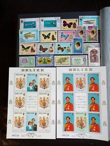 COLLECTION OF BELIZE + BRITISH HONDURAS STAMPS