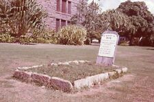 MEMORY OF MAN GRAVE SITE WITH HEADSTONE 1970's 35mm PHOTO SLIDE