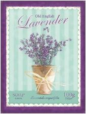 Lavender Soap Bathroom Kitchen Home Shabby Chic Flowers Large Metal/Tin Sign
