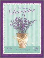 Lavendelfarben Seife Badezimmer Heim Küche Shabby Chic Blumen Großes Metall/