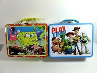 Metal Lunch Box toy Story It's Play Time and SpongeBob