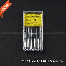 Dental GATES Glidden Drill 32mm #2 Japan MANI Endodontic Root Canal Instrument