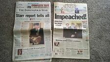 Lot of 2 Newspapers-Bill Clinton's Complete Investigation and Impeachment-1998