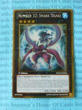 Number 32: Shark Drake PGLD-EN044 Gold Rare Yu-Gi-Oh Card 1st Edition New