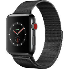 Apple Watch Series 3 42mm Space Black Stainless Steel Case, Milanese Loop 4G LTE