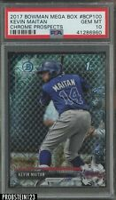 2017 Bowman Chrome Mega Box Kevin Maitan Braves RC Rookie PSA 10