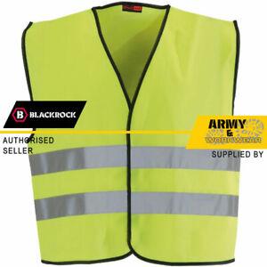 Blackrock Kids Yellow Hi Vis Vest Children High Visibility Viz Safety Waistcoat