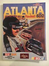 ATLANTA HARDEE'S 500 RACE PROGRAM  - NOVEMBER 17, 1991 DALE EARNHARDT COVER