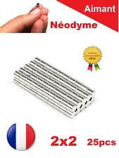 Lot 25 Aimants Puissant Neodyme N35 2 X 2 mm  Photo, Magnet, Fimo, Scrapbooking