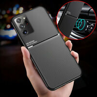 For Samsung Galaxy S21 + Ultra Note 20 S10 Magnetic Leather Silicone Case Cover