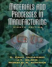 Materials and Processes in Manufacturing