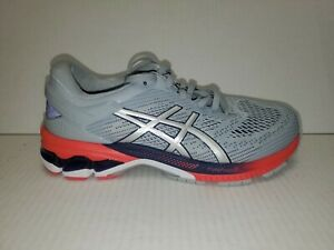 ASICS Running Shoes LADY GEL-KAYANO 26 WIDE Gray Silver 1012A459 US 8